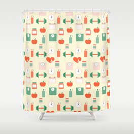 Fitness pattern Shower Curtain