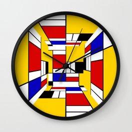 Mondrian Cube Wall Clock