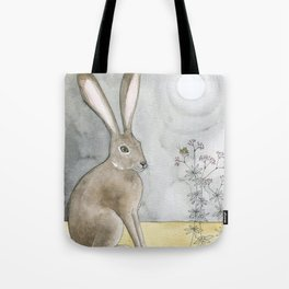 Hare and Cricket Tote Bag