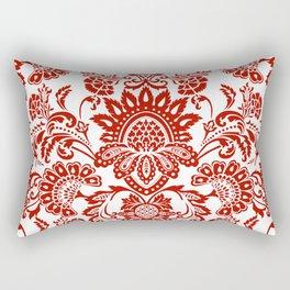 Damask in red Rectangular Pillow