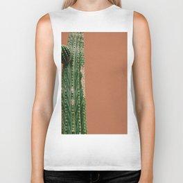 Cactus Against Orange (Color) Biker Tank