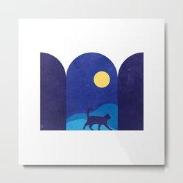 cat_night0612 Metal Print