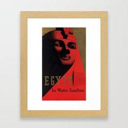 Vintage Travel Poster - Egypt For Winter Sunshine Framed Art Print
