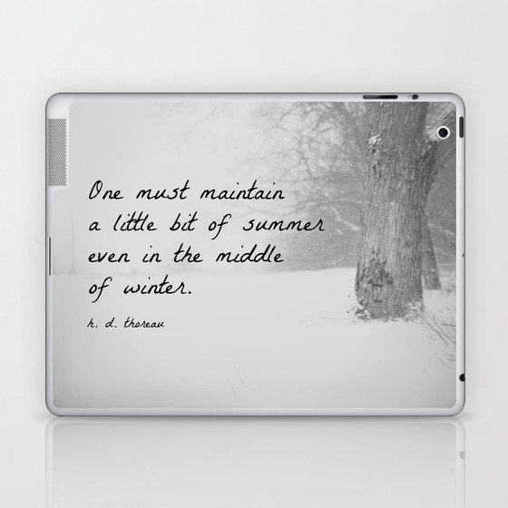 Thoreau Quote Winter Laptop & iPad Skin