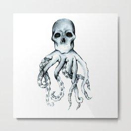 Skull Headed Octopus Metal Print