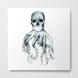 Skull Headed Octopus Metal Print