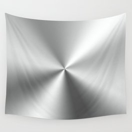 Silver gray stainless steel print Wall Tapestry