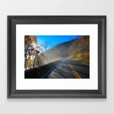 Mist Over Shenandoah Parkway Framed Art Print