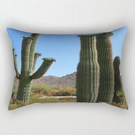 Young And Old Saguaros  Rectangular Pillow