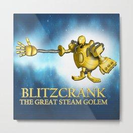 Blitzcrank the Great Steam Golem Metal Print