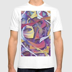 Interaction (in purple) Mens Fitted Tee White MEDIUM