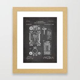 First Computer Patent - Technology Art - Black Chalkboard Framed Art Print