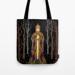 Kriemhild's Revenge (Lady with Sword) Tote Bag