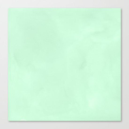 Sea Green Watercolor Canvas Print