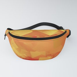 Cubism in orange Fanny Pack