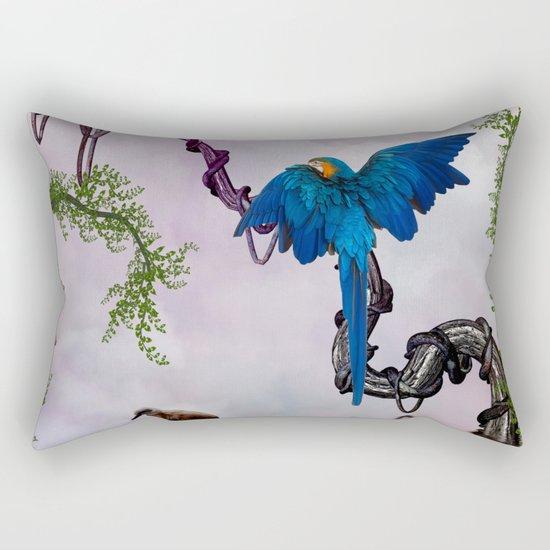 Wonderful blue parrot Rectangular Pillow