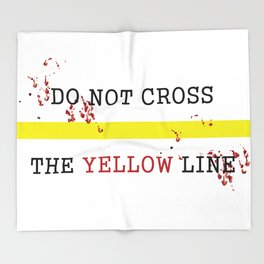 The Yellow Line Throw Blanket