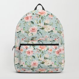 Pink Blush Cream Flowers He Is Risen As He Said Easter Quote Backpack