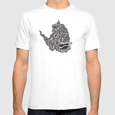 Hairy Smoke Bastard #1 White Mens Fitted Tee MEDIUM