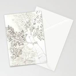 Aspen Trees Sketch Stationery Cards