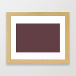 Rich Burgundy Red Solid Color Accent Shade / Hue Matches Sherwin Williams Deep Maroon SW 0072 Framed Art Print