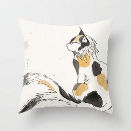Nekomata Throw Pillow