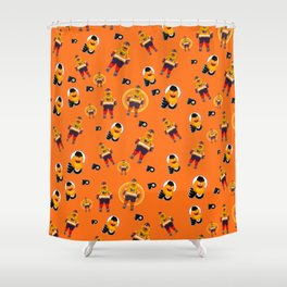 gritty patterns Shower Curtain
