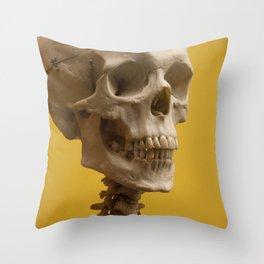 A human skull Throw Pillow