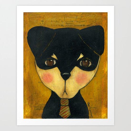 Portrait Of Mr. Dog Art Print