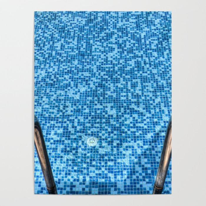 Summer Swimming Pool Poster by davidpyatt