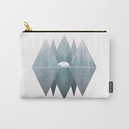 Misty Forest Mountain Bear Carry-All Pouch