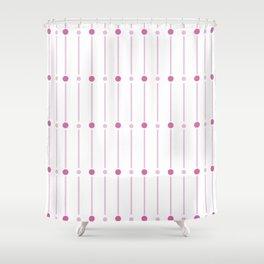 geometric pattern with pink circles Shower Curtain