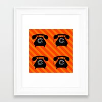 telephone Framed Art Prints featuring telephone by vitamin