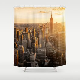 New York Sunrise Shower Curtain