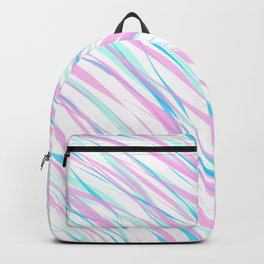 Soft Fluffy Fur Abstract Design Backpack