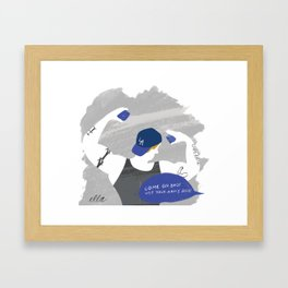 Come On Bro! Use Your Arms Bro! Framed Art Print