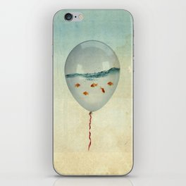 balloon fish iPhone Skin