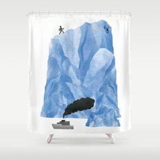 The Living Iceberg Cousin Shower Curtain