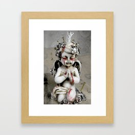 Massacred Angel: mixing Heaven with Hell. Framed Art Print
