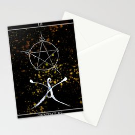 A Tarot of Ink 03 of Pentacles Stationery Cards