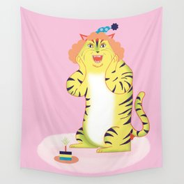 Tiger Cake Surprise Wall Tapestry