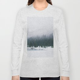 Evergreen Winter Forest (Color) Long Sleeve T-shirt