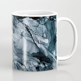 Dark Payne's Grey Flowing Abstract Painting Coffee Mug