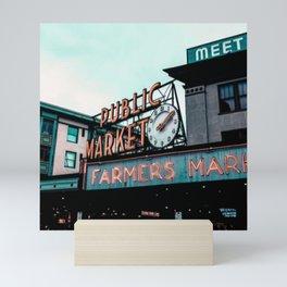Public Market Seattle Mini Art Print