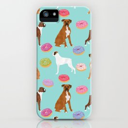 Boxer donuts cute gifts for pure breed dog lover Boxers dog owners iPhone Case