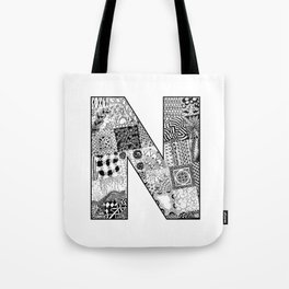 Cutout Letter N Tote Bag