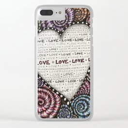 All we need is LOVE! Clear iPhone Case