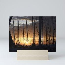 Kalamaki sunset Mini Art Print