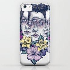 Portrait Grey iPhone 5c Slim Case
