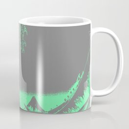 The Great Wave Green & Gray Coffee Mug